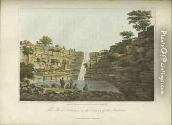 The Rock Fountain in the Country of the Bushmen Oil Painting - Burchell, William John