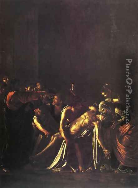 The Raising of Lazarus Oil Painting - Caravaggio