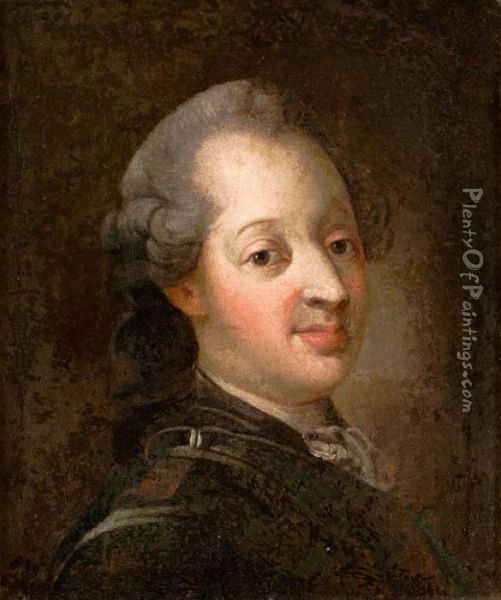 Konung Frederik V Av Danmark 1723 66 Oil Painting Reproduction By