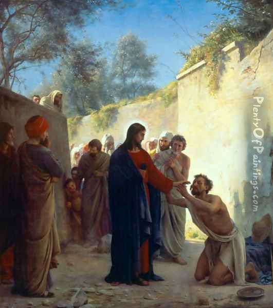 Christ Healing Oil Painting - Carl Heinrich Bloch