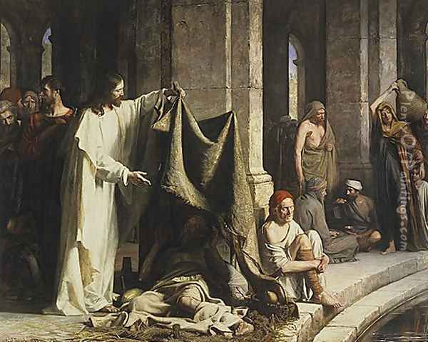 Christ Healing by the Well of Bethesda Oil Painting - Carl Heinrich Bloch