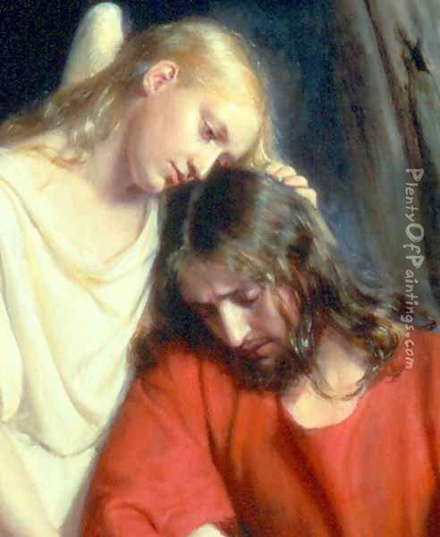 Christ at Gethsemane [detail #1] Oil Painting - Carl Heinrich Bloch
