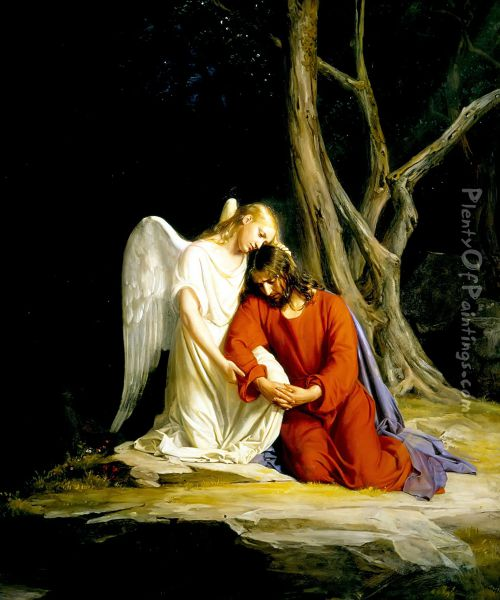 Christ at Gethsemane II Oil Painting - Carl Heinrich Bloch