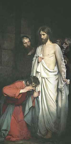 Doubting Thomas Oil Painting - Carl Heinrich Bloch