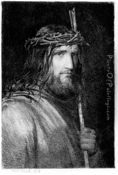 Portrait of Christ I Oil Painting - Carl Heinrich Bloch