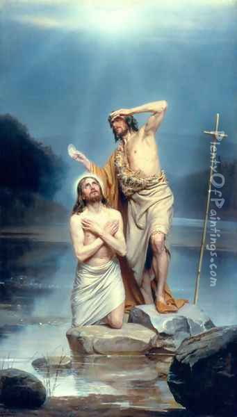 The Baptism of Christ Oil Painting - Carl Heinrich Bloch