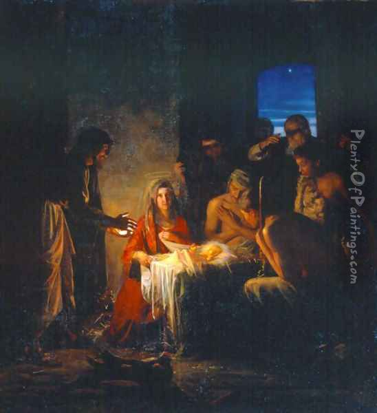 The Birth of Christ Oil Painting - Carl Heinrich Bloch
