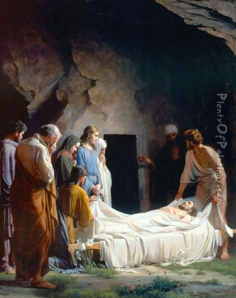 The Burial of Christ Oil Painting - Carl Heinrich Bloch