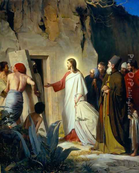 The Raising of Lazarus Oil Painting - Carl Heinrich Bloch