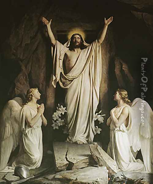 The Resurrection Oil Painting - Carl Heinrich Bloch