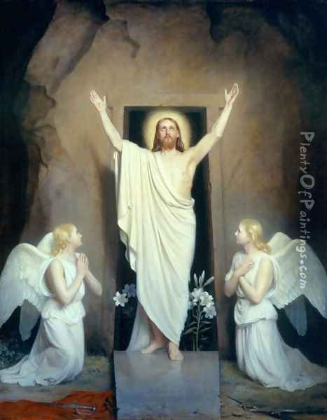 The Resurrection I Oil Painting - Carl Heinrich Bloch