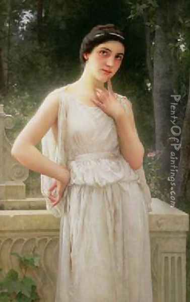 Contemplation Oil Painting - Charles Amable Lenoir