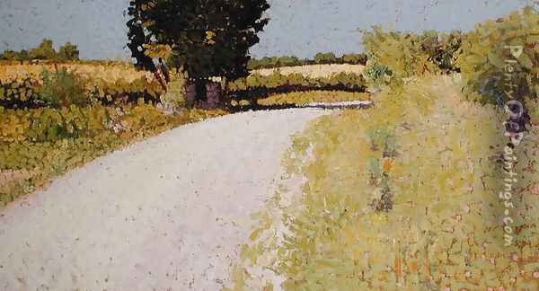 Path in the Country, c.1886 Oil Painting - Charles Angrand