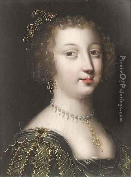Portrait of a lady 2 Oil Painting - Charles Beaubrun