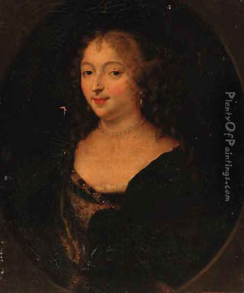 Portrait of a lady 5 Oil Painting - Charles Beaubrun