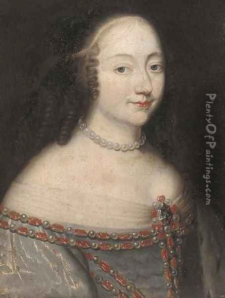 Portrait of lady Oil Painting - Charles Beaubrun