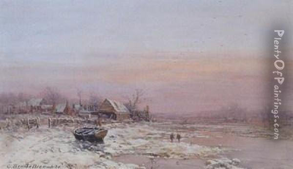 Winter Near Newport Oil Painting - Charles Branwhite