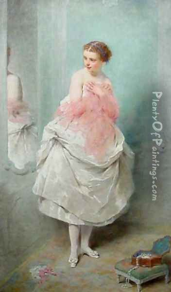 Avant le bal (Before the Ball) Oil Painting - Charles Chaplin