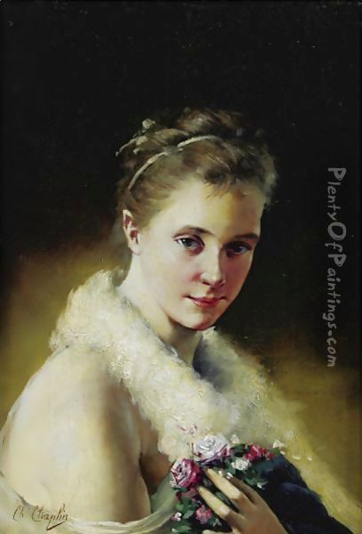 Portrait Of A Girl Oil Painting - Charles Chaplin