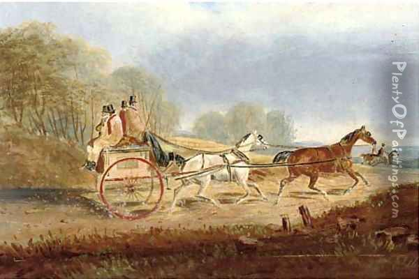 A trot through the countryside Oil Painting - Charles Cooper Henderson