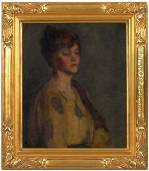 Portrait Of A Woman Oil Painting - Charles Curran