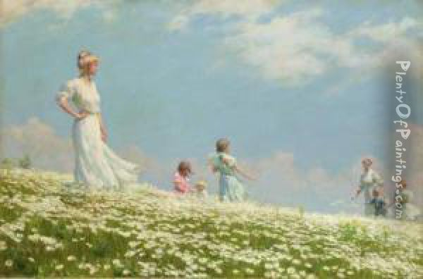Summer Oil Painting - Charles Curran