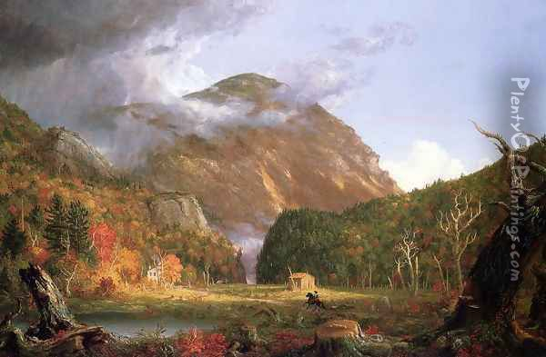 The Notch of the White Mountains Oil Painting - Charles DeWolf Brownell