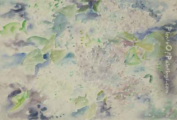 Pattern of Lilacs Oil Painting - Charles Demuth