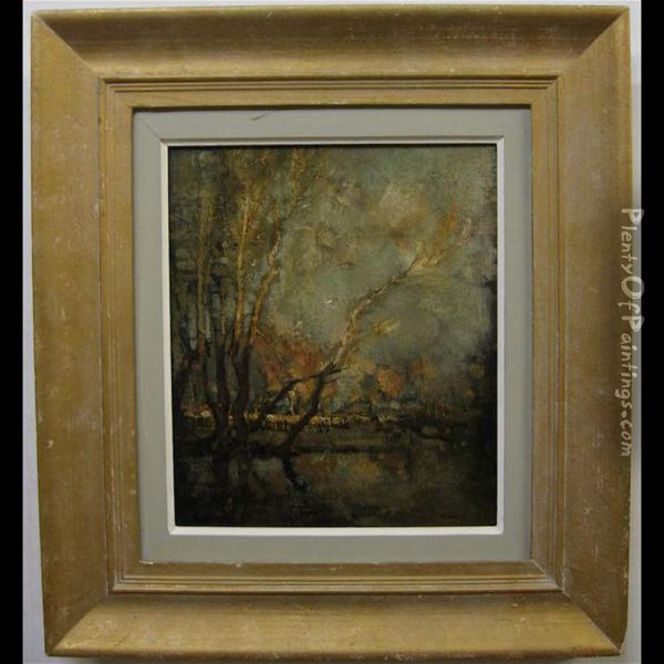 Winter Sun Oil Painting - Charles Halkerston Woolford