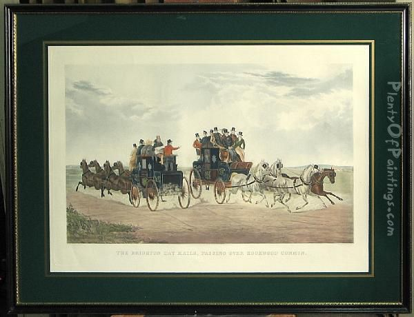 The Brighton Day Mails, Passing Overhookwood Common Oil Painting - Charles Hunt