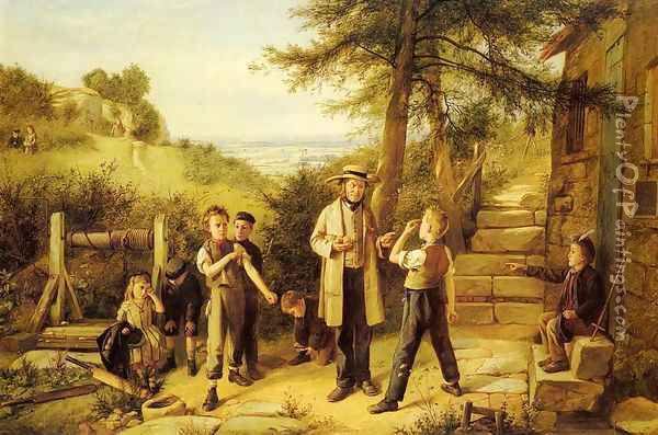 The Peace Maker Oil Painting - Charles Hunt