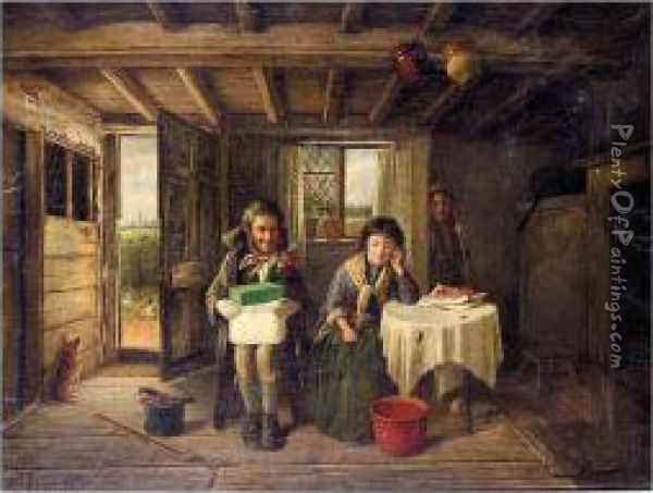 The Suitor Oil Painting - Charles Hunt