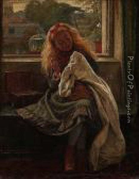 Very Industrious Oil Painting - Charles Rossiter