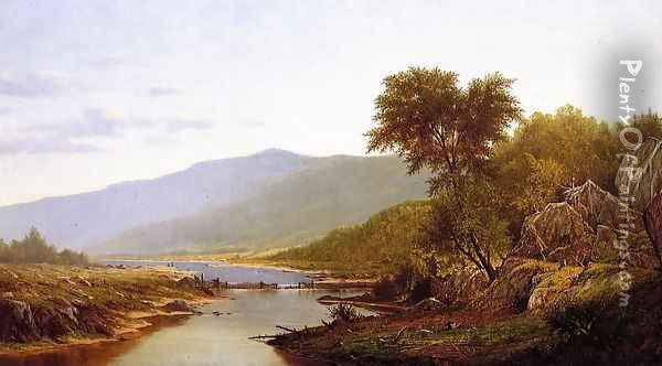 In the White Mountains Oil Painting - Charles Wilson Knapp