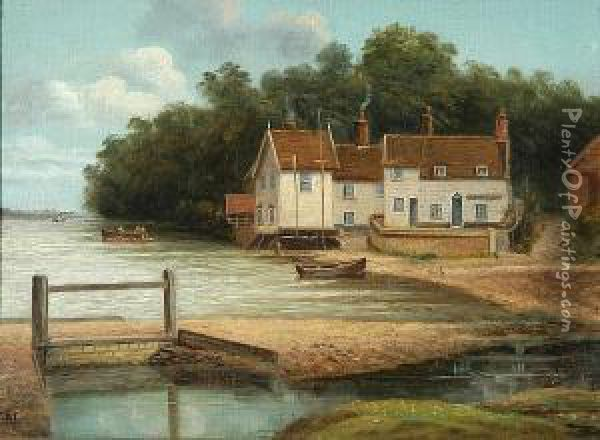 Pin Mill Oil Painting - Christopher Mark Maskell