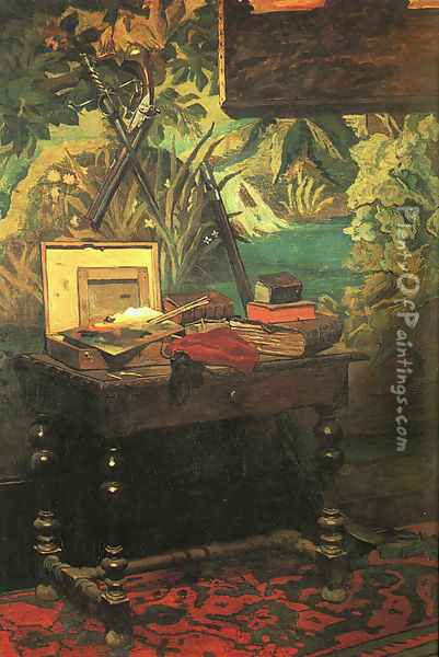 A Corner of the Studio 1861 Oil Painting - Claude Oscar Monet