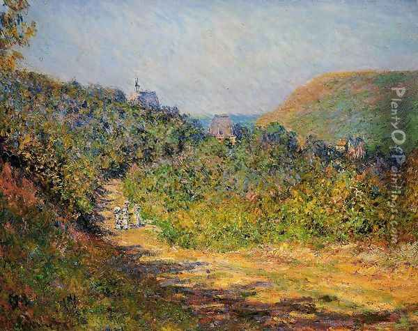 At Les Petit Dalles Oil Painting - Claude Oscar Monet