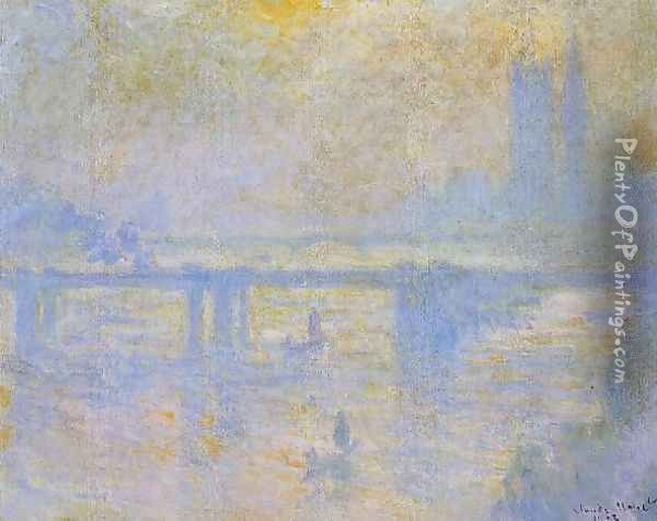 Charing Cross Bridge4 Oil Painting - Claude Oscar Monet