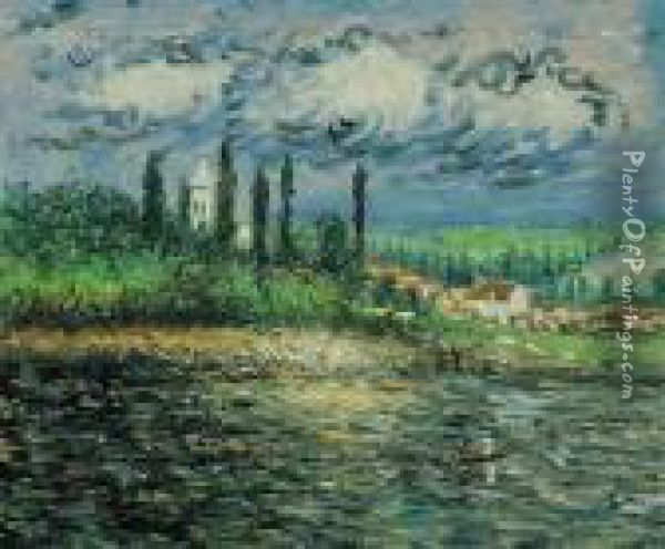 Landscape With Thunderstorm Oil Painting - Claude Oscar Monet