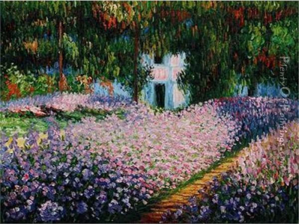 Orchard In Spring Oil Painting - Claude Oscar Monet
