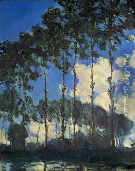 Poplars On The Banks Of The Epte Oil Painting - Claude Oscar Monet