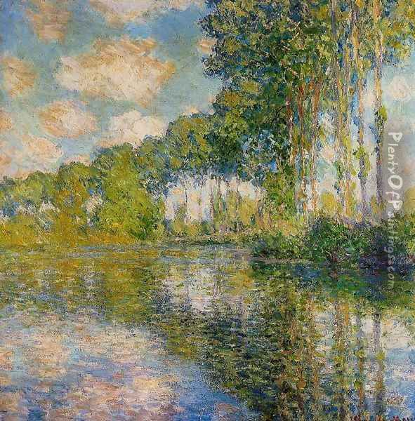 Poplars On The Banks Of The River Epte Oil Painting - Claude Oscar Monet