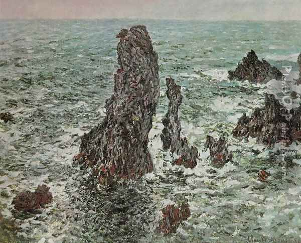 Rocks at Belle-Ile (The Needles of Port-Coton) Oil Painting - Claude Oscar Monet