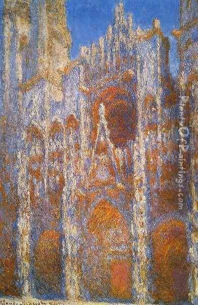 Rouen Cathedral, Sunlight Effect Oil Painting - Claude Oscar Monet