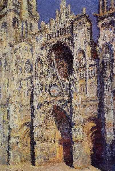 Rouen Cathedral The Portal And The Tour D Albane Full Sunlight Oil Painting - Claude Oscar Monet
