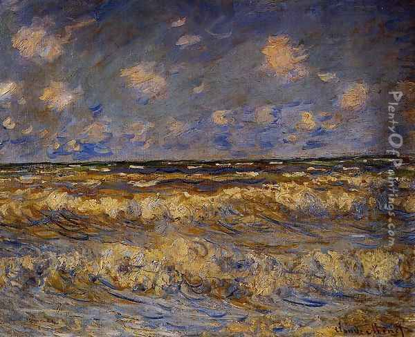 Rough Sea Oil Painting - Claude Oscar Monet