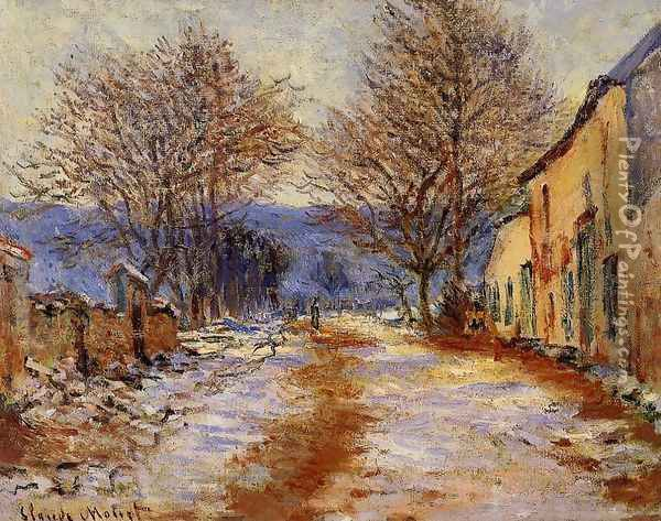 Snow Effect At Limetz Oil Painting - Claude Oscar Monet