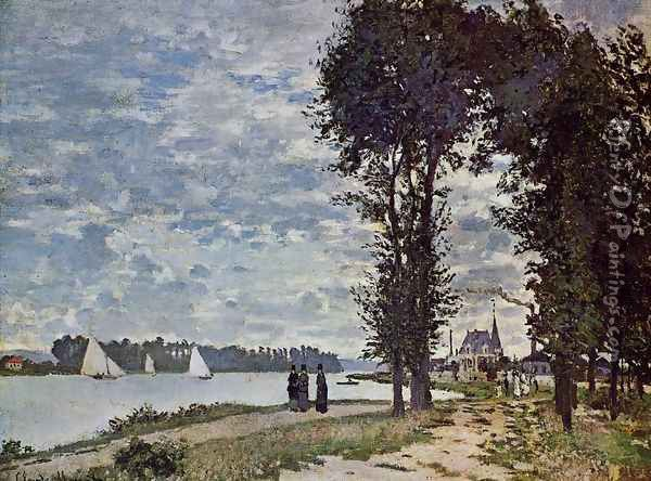 The Banks Of The Seine At Argenteuil Oil Painting - Claude Oscar Monet