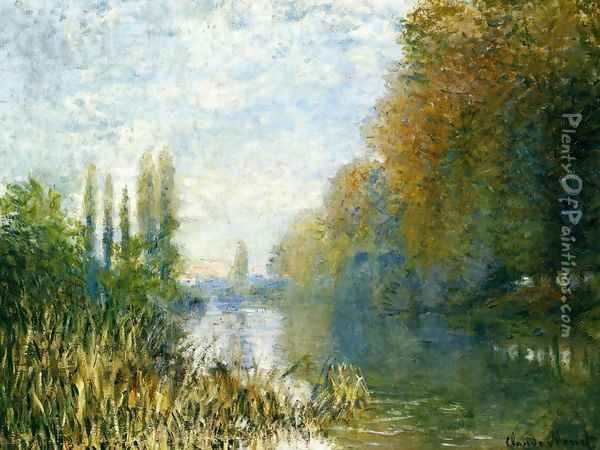 The Banks Of The Seine In Autumn Oil Painting - Claude Oscar Monet