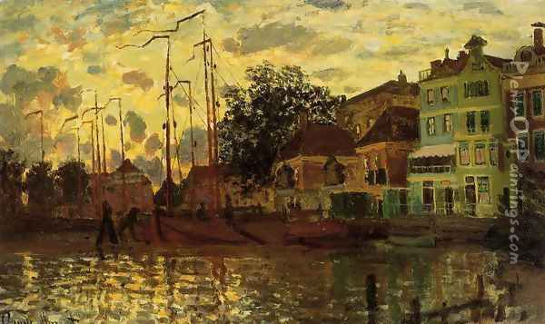 The Dike At Zaandam Evening Oil Painting - Claude Oscar Monet